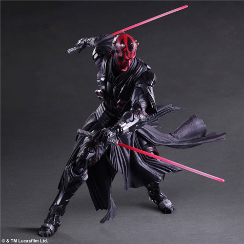 PlayArts KAI Star Wars Darth Maul PVC Action Figure Collectible Model Toy 28cm MVFG369 star wars darth vader stormtrooper darth maul pvc action figure collectible model toy 15 17cm kt1717