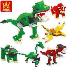 6 styles Jurassic Dinosaur World Block Jouet Enfant Building Blocks Sets Model Bricks Toys For Children