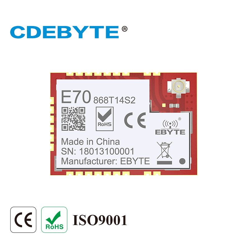 E70-868T14S2 ARM CC1310 868mhz 25mW IPX Stamp Hole IOT Uhf Wireless Transceiver Transmitter Receiver UART CC1310 Module