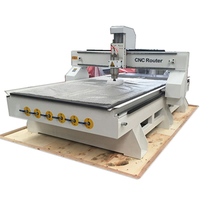 Automatic Cnc Wood Cutting Machine For Panel Furniture Wood Engraving Milling Industry/3.0Kw Cnc Router 1325 With Vacuum Table