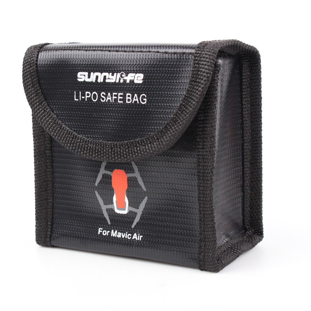 JMT Heat-Resistance Explosion-Proof Lipo Battery Safe Safety Guard Bag Pouch Charging Storage Holder for DJI Mavic Air