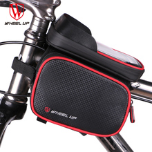 WHEEL UP New 6.2 Inch Waterproof Touch Screen Bike Bag Front Frame Top Cell Phone TPU Cycling Bag MTB Road Mountain Bicycle Case