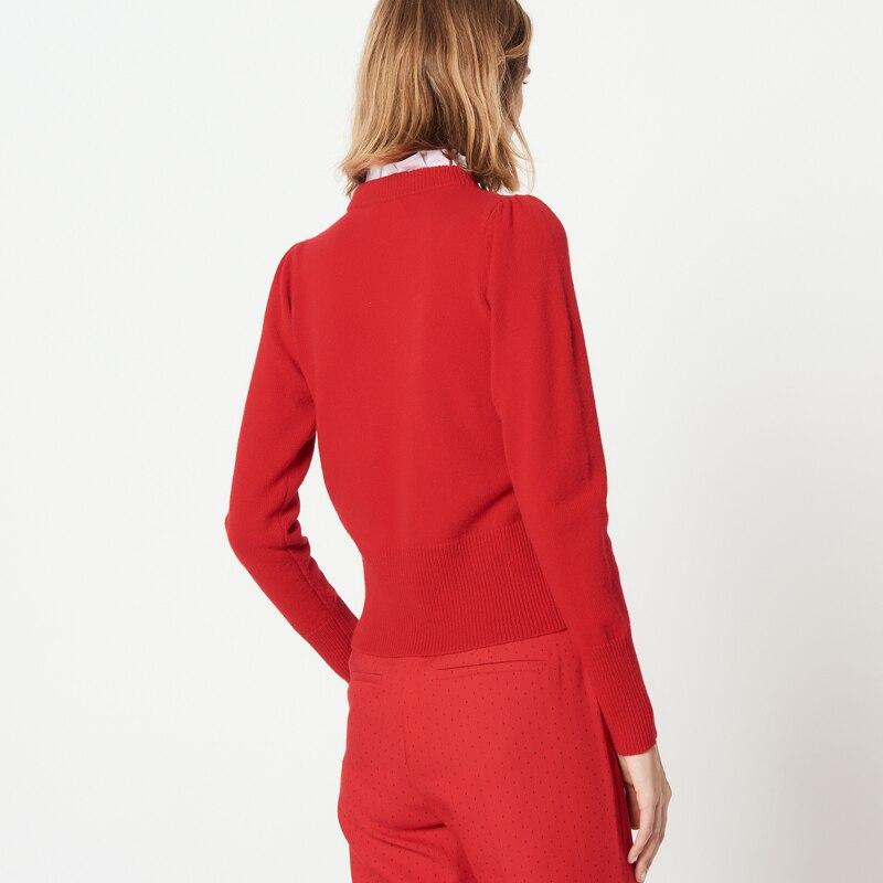 ฤดูใบไม้ร่วงฤดูหนาวใหม่ 2018 ผู้หญิงแฟชั่นโบว์เสื้อกันหนาว collaret-ใน เสื้อคลุมสวมศีรษะ จาก เสื้อผ้าสตรี บน   2