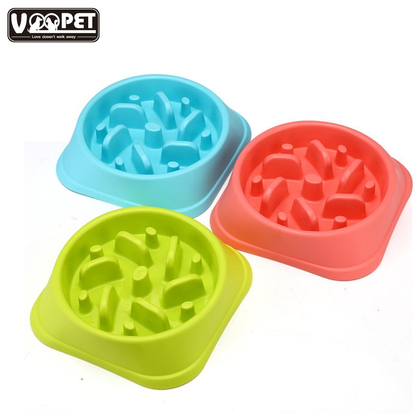 Pet Toy Pet dog bowl Anti-mite bowl Dog puzzle slow food bowl Non-slip anti-smashing dog bowl Candy-colored
