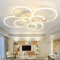 Sitting Room Lamp Dimming 2017 Remote Control Living Study Room Bedroom Modern Led Chandelier White