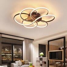 거실 용 현대 샹들리에 조명 Luminarine avize lustre de plafond moderne 90 265V Lustre 침실 천장 샹들리에