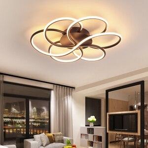 Image 1 - מודרני נברשת תאורה לסלון Luminarine avize ברק דה plafond moderne 90 265V ברק שינה תקרת נברשת