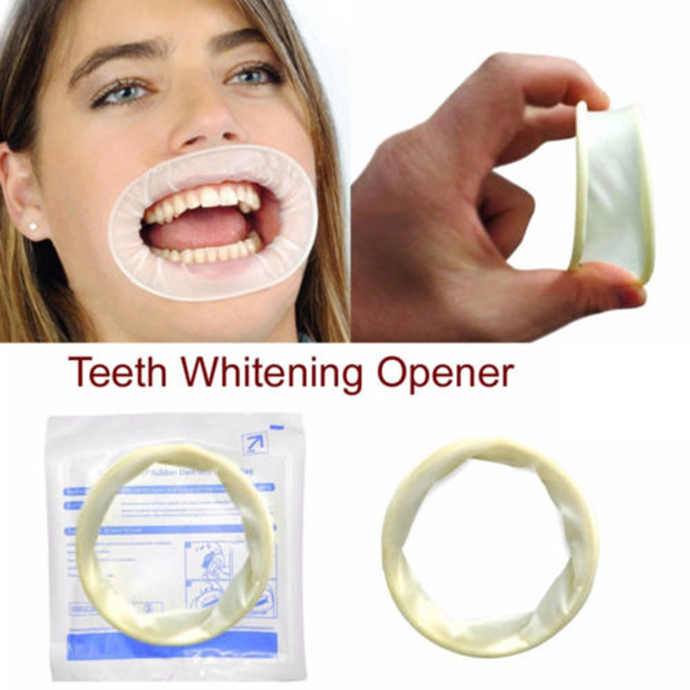 1 Pc Disposable Rubber Sterile Mouth Opener Oral Cheek Expanders Retractor Rubber Dam Mouth Opener Oral Hygiene Dental