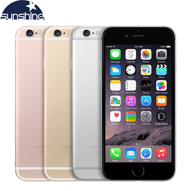 Unlocked Apple iPhone 6S Plus 4G LTE Mobile phone 5.5'' 12MP 2G RAM 16/64/128G ROM Dual Core Camera Cell Phones