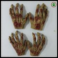 1 Pair Halloween Party Cosplay Hand Mask Gloves Festival Supplies Horror Latex Scary Halloween Mask gloves Hand Scary Gloves