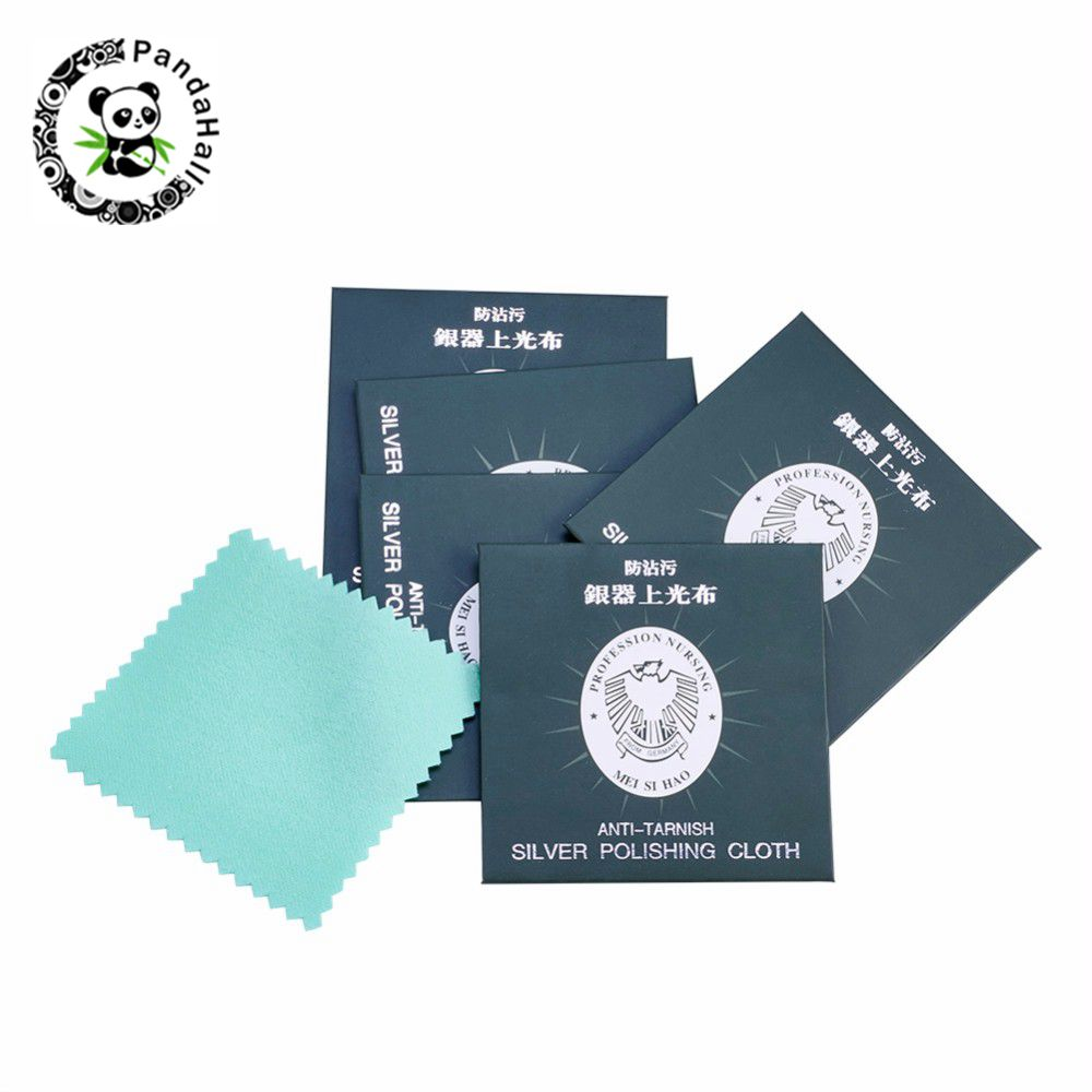 50pcs Silver Polishing Cloth Antitarnish Square Silver Cleaning Cloth about 7.5cm wide 7.5cm long50pcs Silver Polishing Cloth Antitarnish Square Silver Cleaning Cloth about 7.5cm wide 7.5cm long