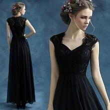 Новое поступление плюс размер pregnent Свадебные платья для женщин черное вечернее платье, пикантное длинное вечернее платье с v-образным вырезом 10096