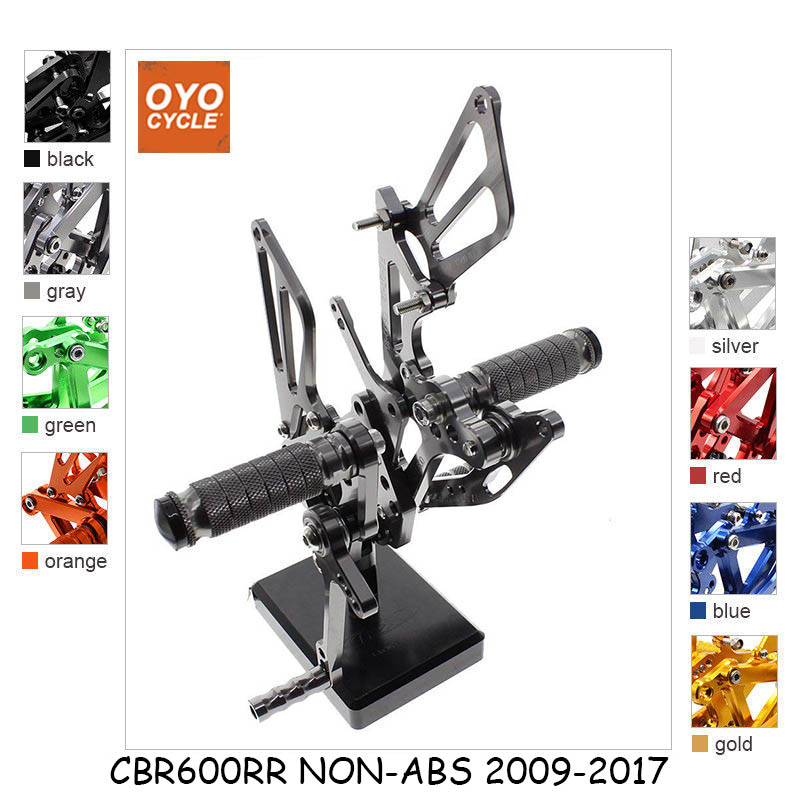 CNC Adjustable Rearsets Foot Rest Foot Pegs Foot Rests For Honda CBR600RR NON-ABS 2009 2010 2011 2012 2013 2016 2017 CBR 600RR cnc adjustable rearsets foot rest foot pegs foot rests for honda cbr600rr abs 2009 2010 2011 2012 2013 2014 2015 cbr 600rr