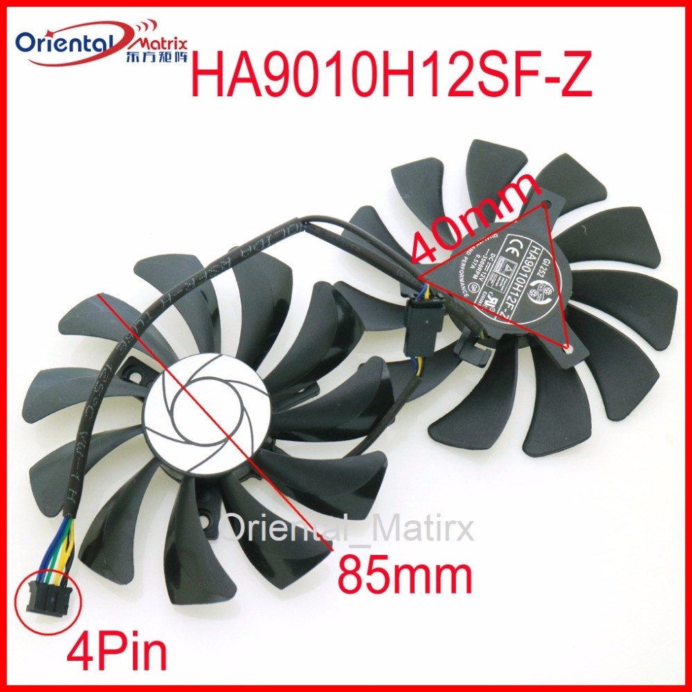 HA9010H12SF-Z 12V 0.57A 85mm 40*40*40mm 4Wire 4Pin VGA Fan For MSI GTX1050TI GTX 1060 GTX1060 Graphics Card Cooling Fan image