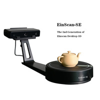 EinScan SE White Light Desktop 3D scanner,0.1 mm Accuracy, 8s Scan Speed, 700mm Cubic Max Scan Volume, Fixed/Auto Scan Mode