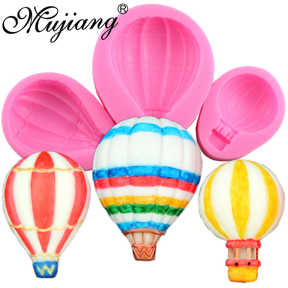 ᑐmujiang 3 Size Hot Air Balloon Balloon Cake Silicone