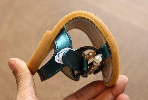 sandalia de couro princesa sapato anti slip bebe sandalia