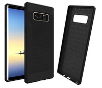 Rugged Soft Carbon Fiber Case For Samsung Galaxy Note 8 Wire Drawing Silicone Case Cover Fashion
