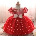 Polka Dot bebê Recém-nascido 1 Ano Vestidos de Festa de Aniversário Da Criança Da Princesa Vestido de Bebê Batismo Das Meninas Vestidos para bebê Recém-nascido Batismo 0-2A