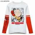Anime One Punch Man Saitama Long Sleeve T-Shirt Fleece Winter Tee Shirt Long Sleeves O-Neck Unisex Men & Women Cartoon T-Shirts