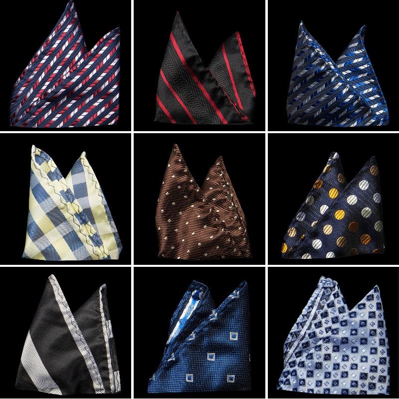 100% Silk Hankerchief Scarves Vintage Hankies Men's Pocket Square Handkerchiefs Striped Solid Snot Rag 22*22 Cm