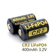 2 części/partia 400 mAh CR2 baterii 3.2 v LiFePO4 akumulator 15266 CR2 bateria w/akumulatora pole ochronne darmowa wysyłka