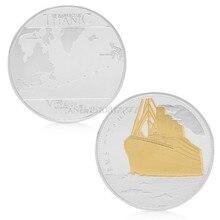 Rms rotas de vela titanic ouro banhado a prata comemorativa desafio moeda presente # h0vh # transporte da gota
