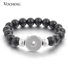 13 Warna 18 Mm Vocheng Ginger Snap Tombol Perhiasan Dipertukarkan Batu Alam dan Stainless Steel Gelang Vb-023(China)