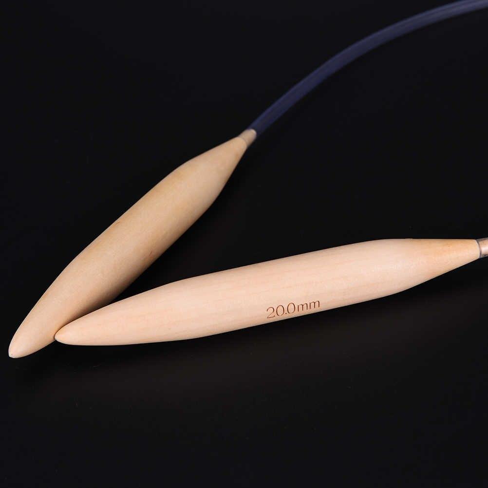 Tubo trasparente Legno Circolare Bamboo Knitting Needles Perni per Spessore del Filato FAI DA TE Artigianato Cucito Ricamo Strumenti 20mm