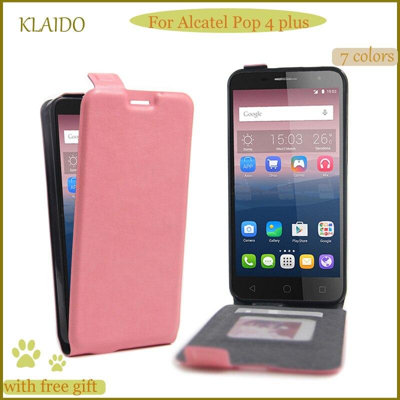 finest selection cf3bb d9d58 US $3.99 |KLAIDO Phone Leather Flip Case for Alcatel pop 4 plus Wallet  Leather Case for Alcatel pop 4 plus Case-in Flip Cases from Cellphones & ...