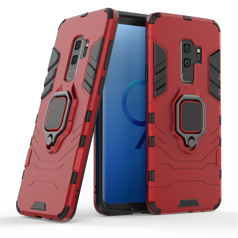 For Samsung Galaxy S9 Plus Case Magnetic Finger Ring Kickstand Cover