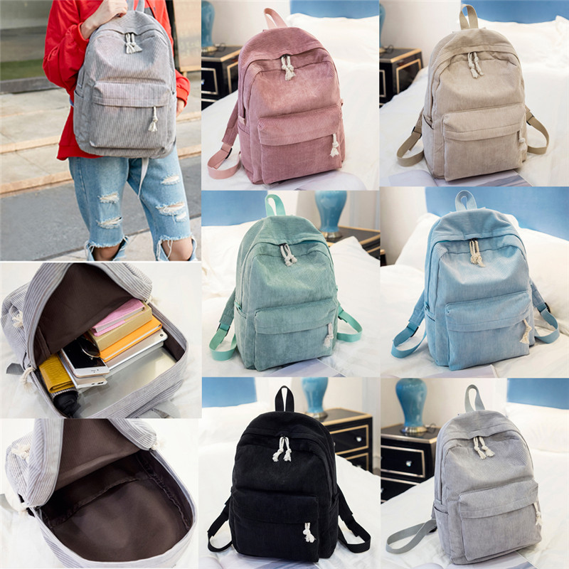 New Fashion Men Women Unisex Casual 6 Color Travel Canvas School Book Backpack Rucksack Camping Laptop Hiking Bag