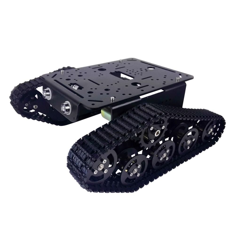 T300 النسخة السوداء سبائك الألومنيوم الإطار ، لعبة خزان معدني/بانزر الهيكل/منصة ، كاتربيلر سلسلة ، روبوت تثبيت واجهة Owi-في قطع غيار وملحقات من الألعاب والهوايات على  مجموعة 1