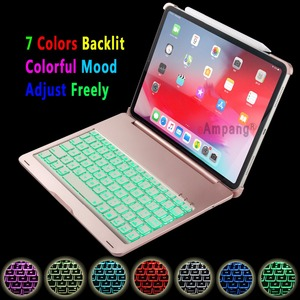 Image 3 - For Apple iPad Pro 11 2018 Keyboard Case 7 Colors Backlit Aluminum Alloy Wireless Bluetooth Keyboard PC Case Cover Coque Funda