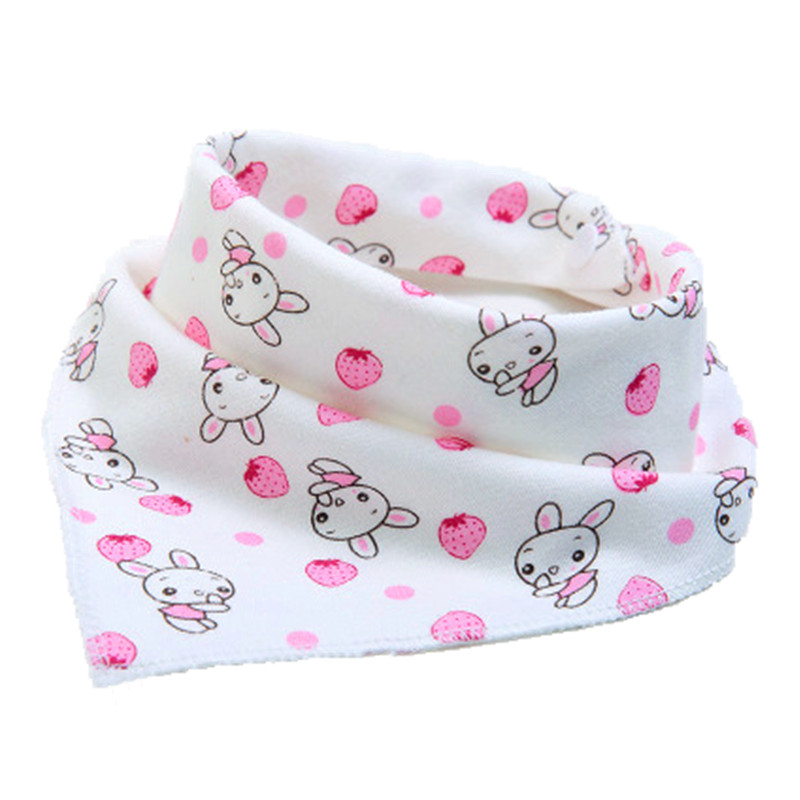 1Pcs Double Layers Cotton Baby Bibs Baby Bandana Bibs Burp Cloths Newborn Triangle Scarf character Animal Towel Stuff  babador