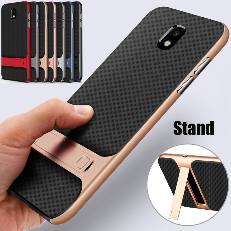 for Samsung Galaxy J7 2018 case shockproof hybrid soft TPU cover & hard bumper case for Samsung Galaxy J7 (2018) stand case skin