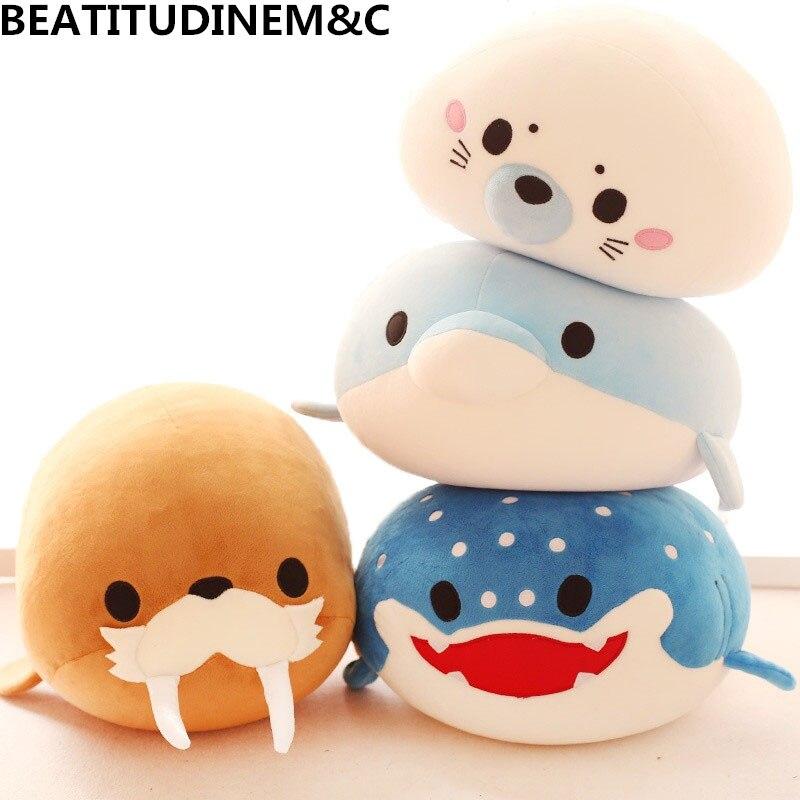Nette Dolphin, Dichtungen, Walruses, Mörder Wale, Whale Sharks Plüsch Spielzeug, ozean Allianz Schaum Partikel Kinder Puppe Puppen