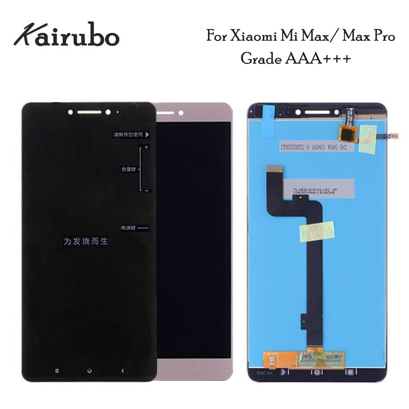 2PCS LOT for Xiaomi Mi Max LCD Display Touch Screen 1920x1080 FHD Glass Panel Accessories For