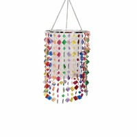 E27 Lamp Shade For LED Pendant Light Lamp Cover For Chandelier Lighting With Acrylic Beads For
