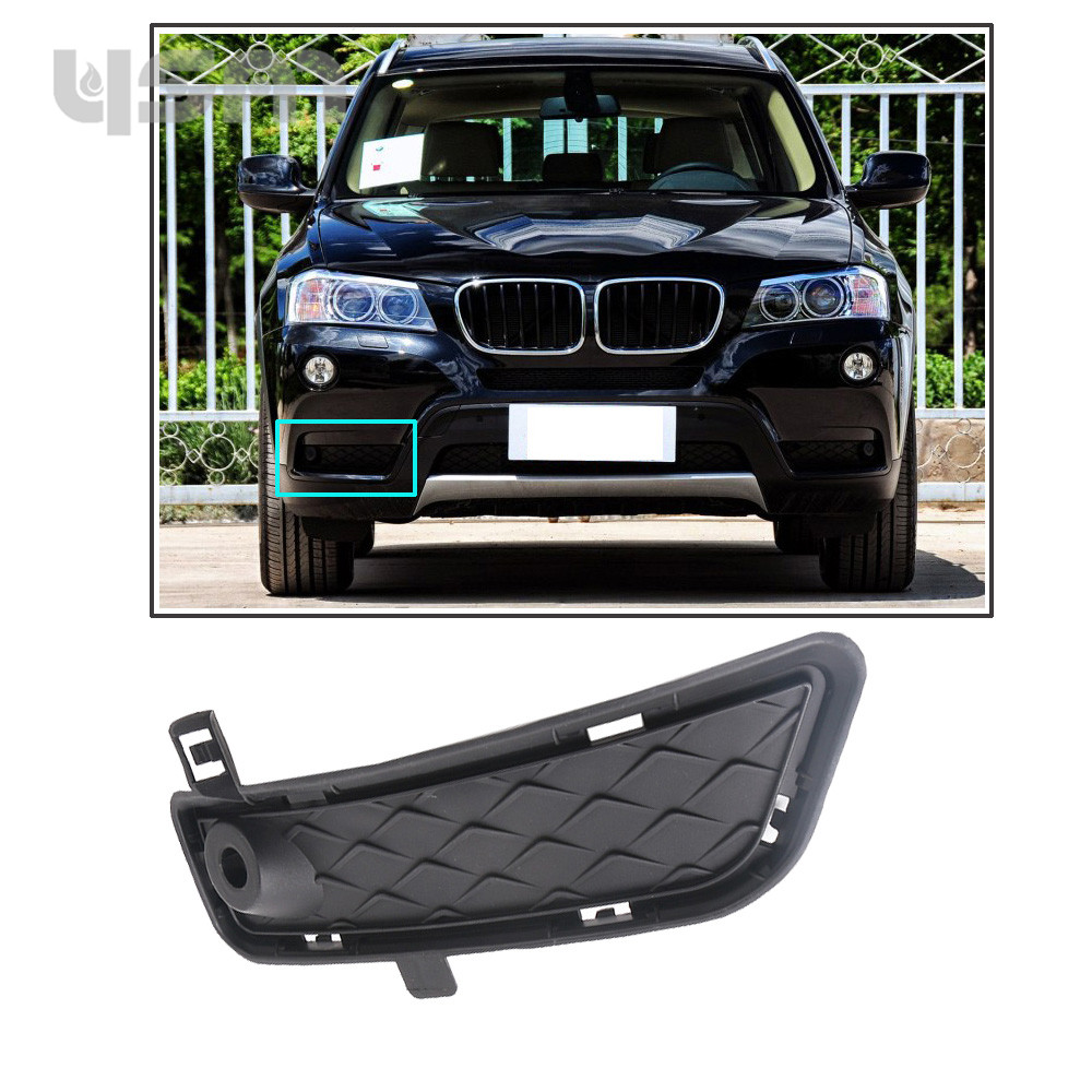 NoEnName_Null Front Bumper Lower Grille Right 51117249596 For BMW F25 X3 2011 2012 2013 2014 51 11 7 249 596