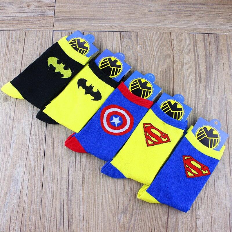 c31f9ea47e86 5 pair Superman Batman Captain America cartoon odd future happy socks  character pattern Superheroes happy sock Men Meias-in Men s Socks from  Underwear ...
