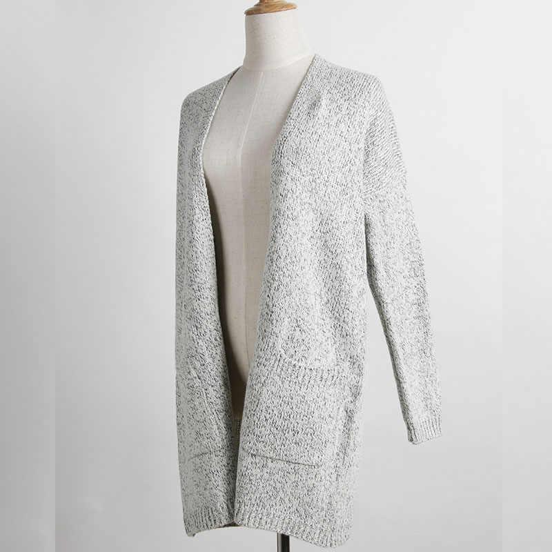 2017 осенне-зимний модный женский длинный рукав свободный вязаный кардиган свитер женский s вязаный женский кардиган pull femme