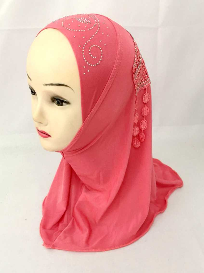 New Small girl hijab Children MUSLIM HIJAB (suits about 0-8years old))