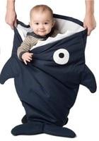 Promotion Cute Shark Baby Sleeping Bag Polar Fleece Infant Clothes Style Sleeping Bags Baby Blanket