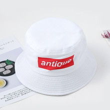 New Creative Panama Fisherman Hat For Men and Women Print Letter Embroidery Unisex Foldable Hip Hop Outdoor Fishing Caps