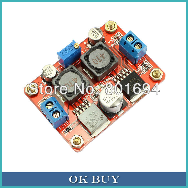 DC-DC Boost And Buck Voltage Converter LM2577 LM2596 3.5-28V to 1.25-26V Step Up Step Down Power Suplly Module