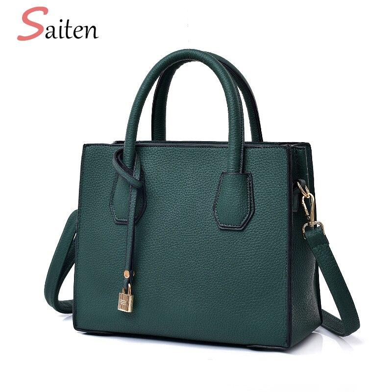 Fashion Litchi Pattern Leather Handbags s