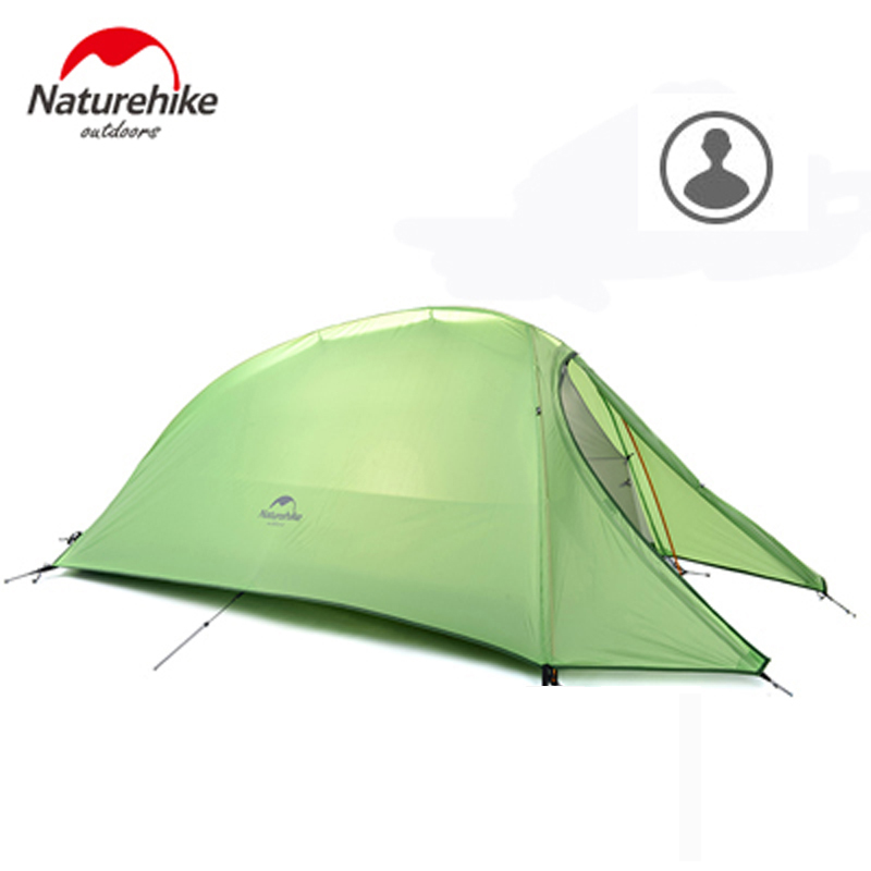 NatureHike Outdoor Portable Double-layer Camping Tent Camouflage for 1 Person Lightweight Waterproof PU8000mm For 4 seasons 3 4 person ultralight portable aluminum rod camping tent outdoor tourism beach snow skirt fishing waterproof camouflage tente