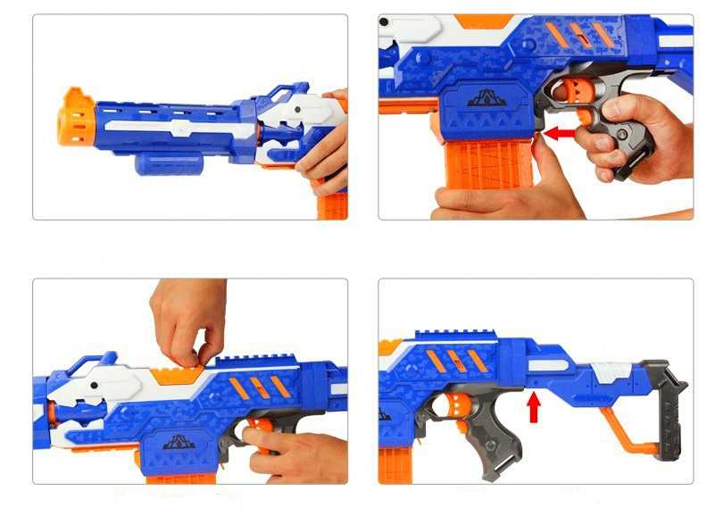 Быстрая доставка мягкий пулевой пистолет костюм для стрельбы для Nerf игрушечный снаряд пистолет Электрический дротик игрушечный пистолет дети лучший подарок