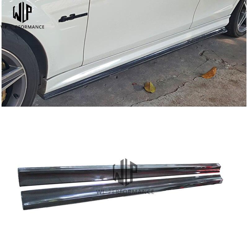Jupe latérale en Fiber de carbone 3 classe C63 pour mercedes-benz C63 AMG 4dr 2012-up kit de carrosserie jupes latérales de voiture de course